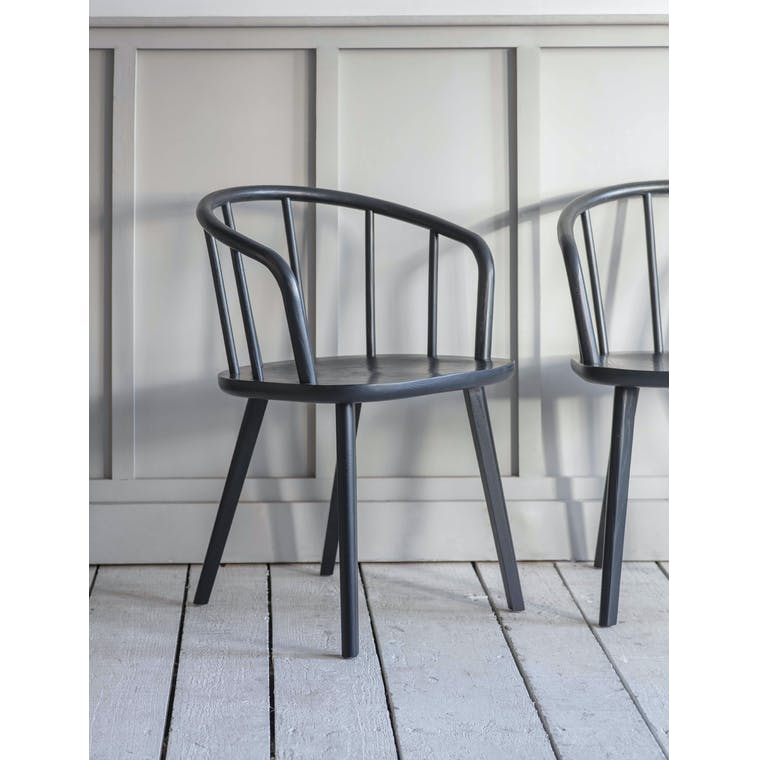 Garden Trading Pair of Carver Chairs in Carbon
