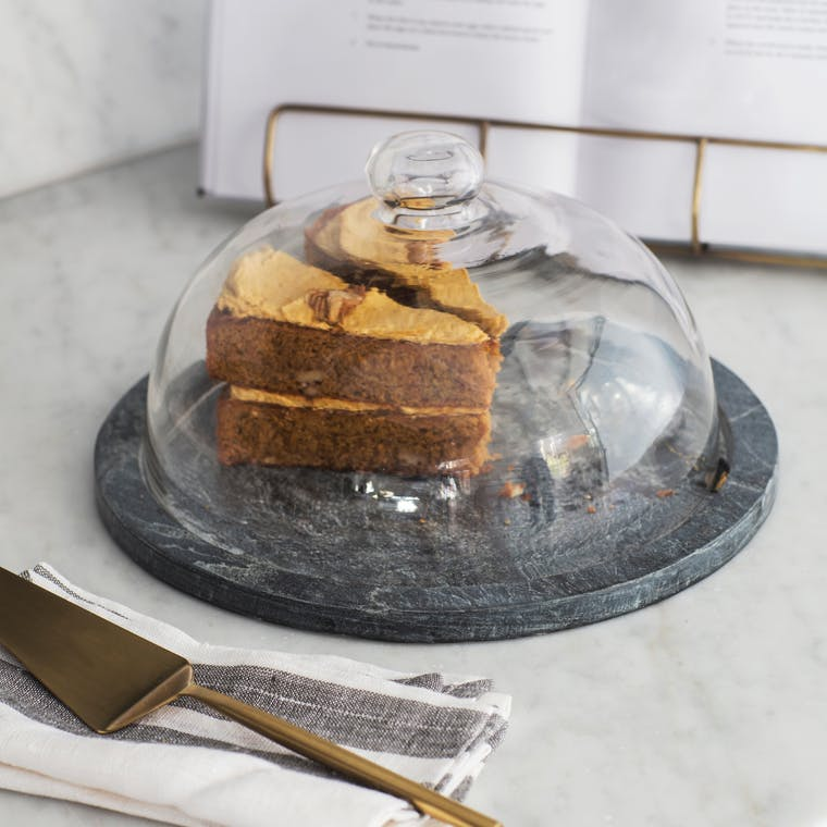 Slate and Glass Brompton Cake Dome | Garden Trading