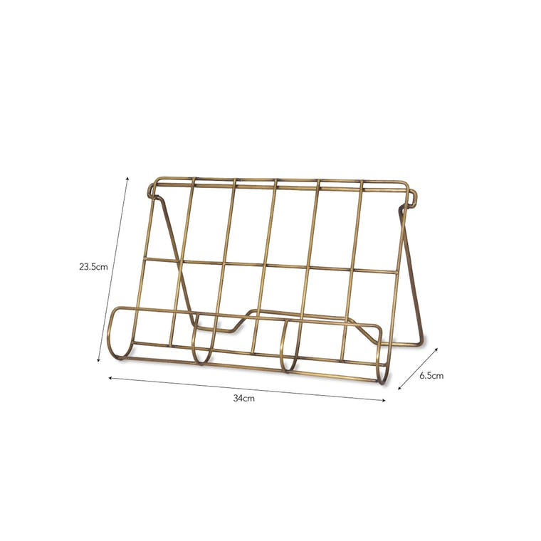 Antique Brass Brompton Cook Book Holder | Garden Trading