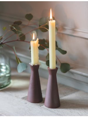 Set of 2 Candle Holders, Tall