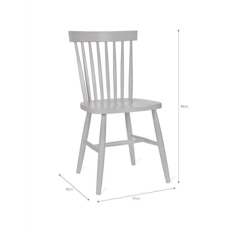 Spindle Back Chair in Green, Black, White or Natural   Garden Trading