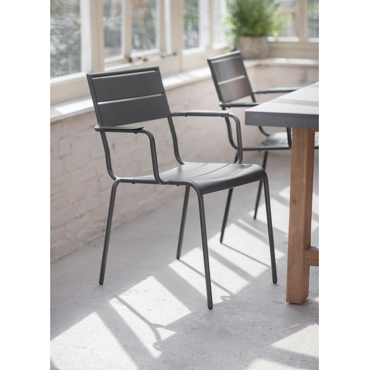 Steel Thurloe Chair in Grey | Garden Trading