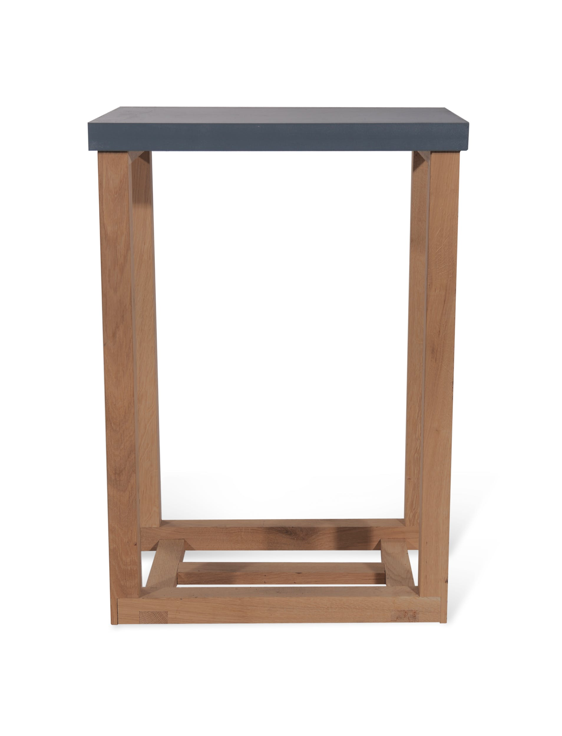 Wooden Clockhouse Log Table in Grey | Garden Trading