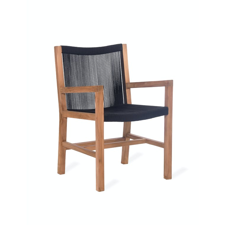 Teak and Polyrope Pair of Mylor Armchairs | Garden Trading