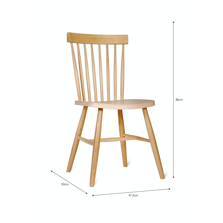 Spindle Back Chair in Black or Natural  | Garden Trading