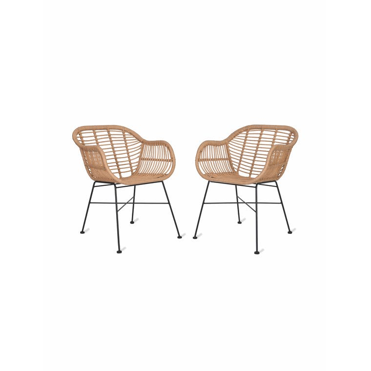 All-weather Bamboo Set of 2 Hampstead Chairs | Garden Trading