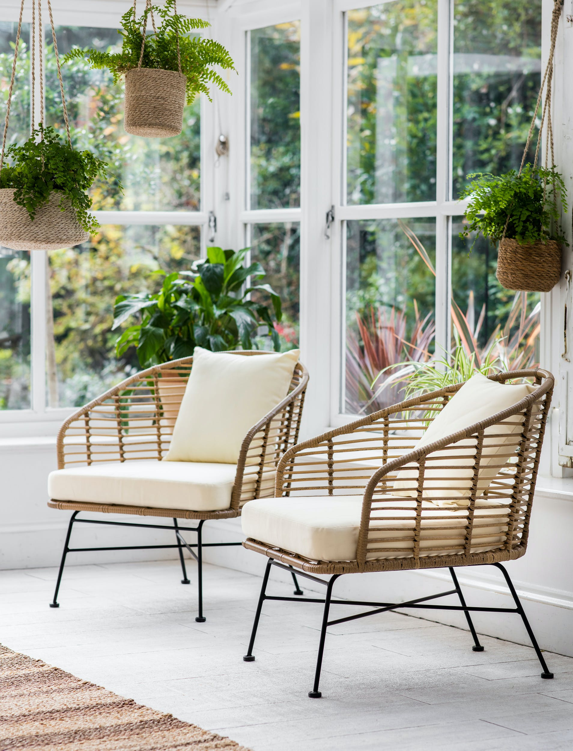 All-weather Bamboo Set of 2 Hampstead Indoor or Outdoor Armchairs | Garden Trading