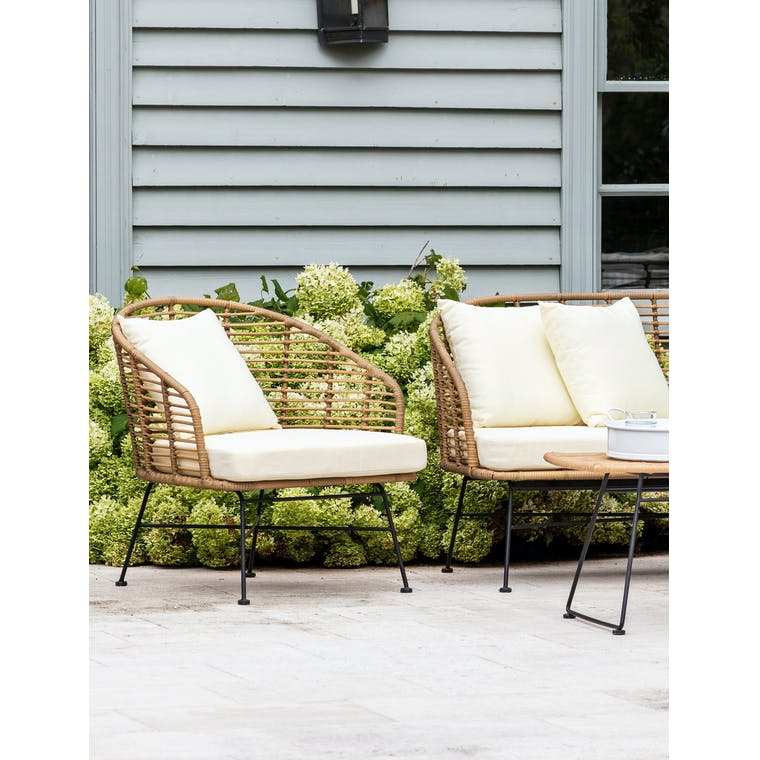 PE Bamboo Set of 2 Hampstead Indoor or Outdoor Armchairs | Garden Trading