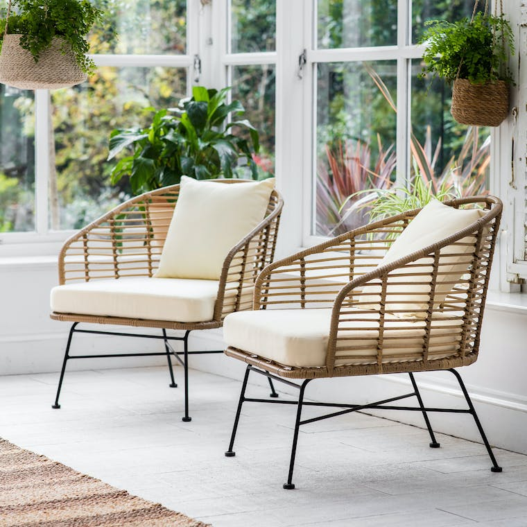 Garden Trading Set of 2 Hampstead Armchairs