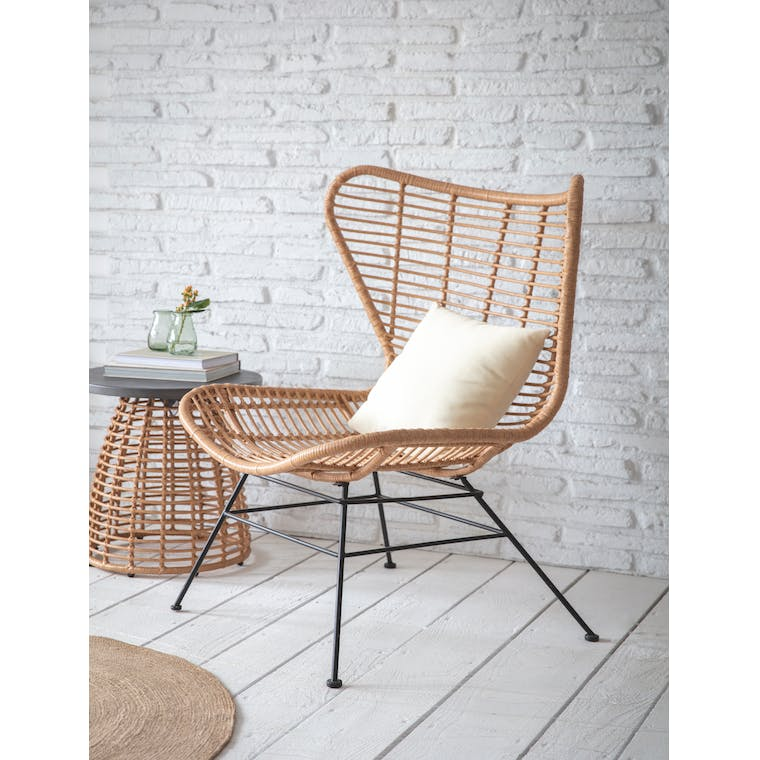 Garden Trading Hampstead Winged Back Chair in Natural - All-weather Bamboo