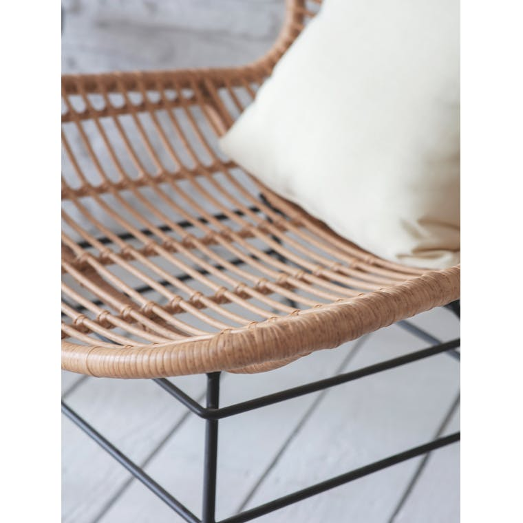 PE Bamboo Hampstead Winged Back Chair | Garden Trading