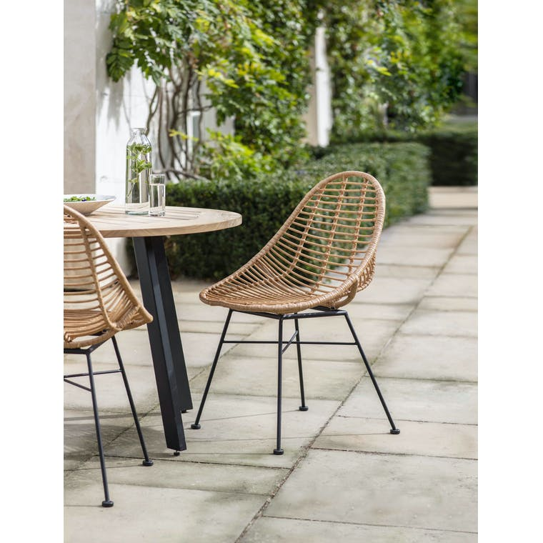 Garden Trading Pair of Hampstead Scoop Chairs - All-weather Bamboo