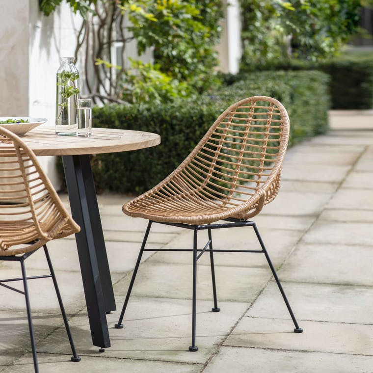 PE Bamboo Pair of Hampstead Scoop Chairs | Garden Trading