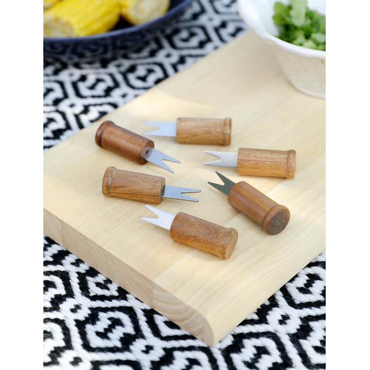 Set of 6 Corn Holders by Garden Trading