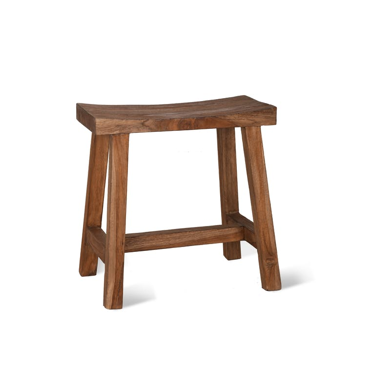 Reclaimed Teak St Mawes Outdoor Stool  | Garden Trading