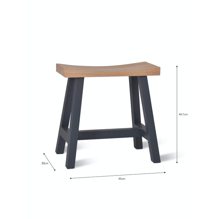 Wooden Clockhouse Stool in Black or Natural | Garden Trading