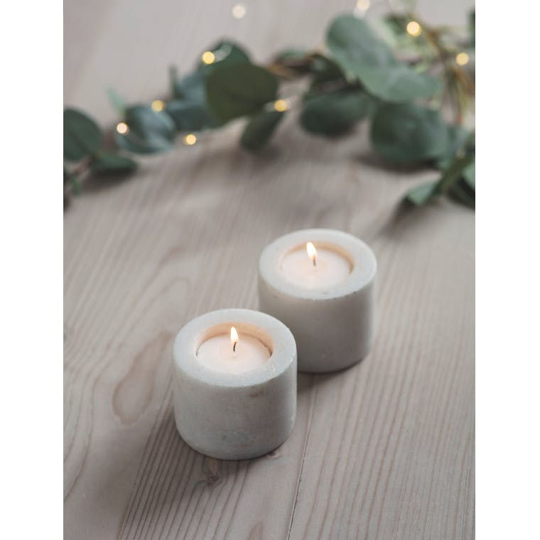 Pair of Burleigh Candle Holders in Black or White | Garden Trading