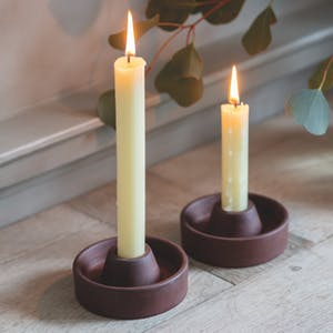 Set of 2 Candle Holders, Short