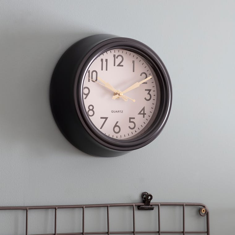 Steel Greenwich Indoor Clock, Black in Small or Large | Garden Trading