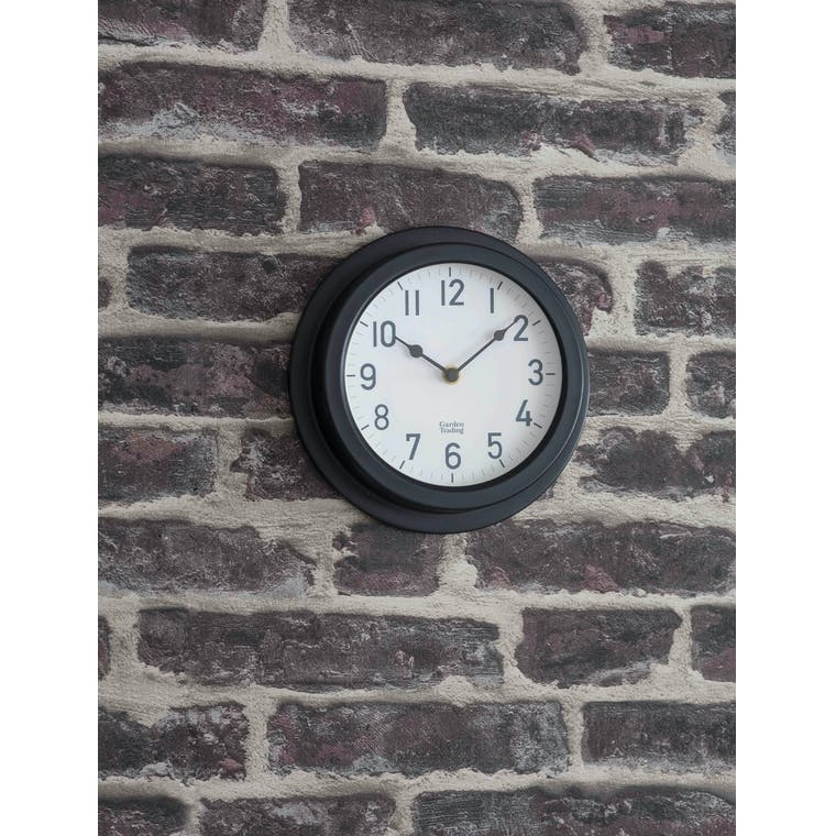 Garden Trading Tenby Clock in Carbon