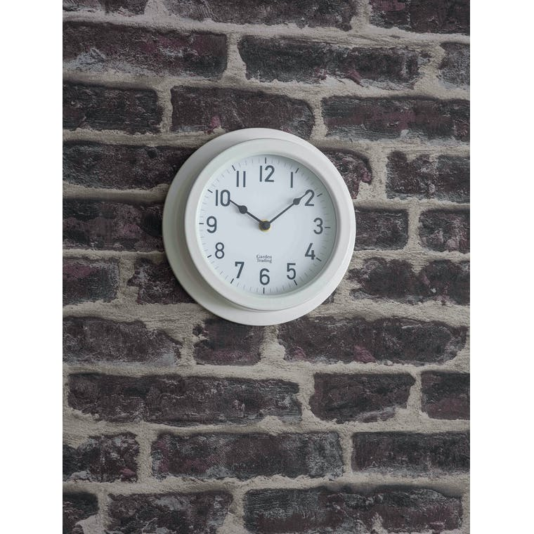 Garden Trading Tenby Clock in Lily White