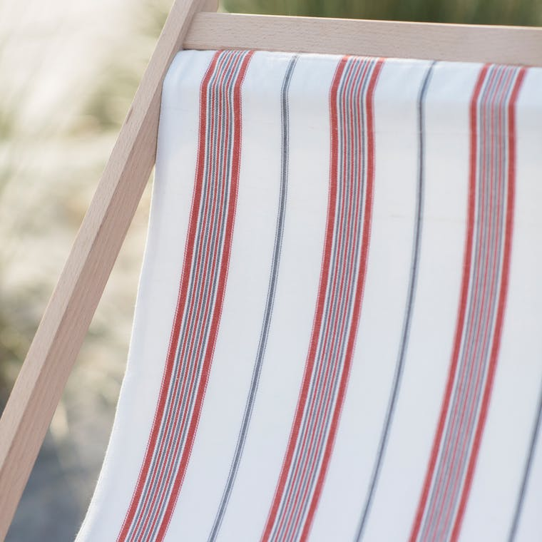 Cotton Deck Chair Sling in Cream, Blue, Green or Coral | Garden Trading