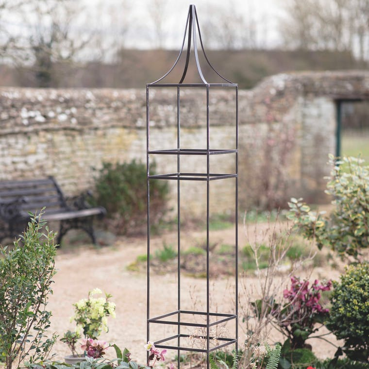 Charlbury Obelisk Plant Support in Small or Large | Garden Trading