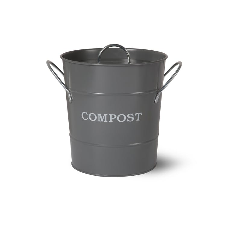 Steel Compost Bucket in White, Grey or Cream  | Garden Trading