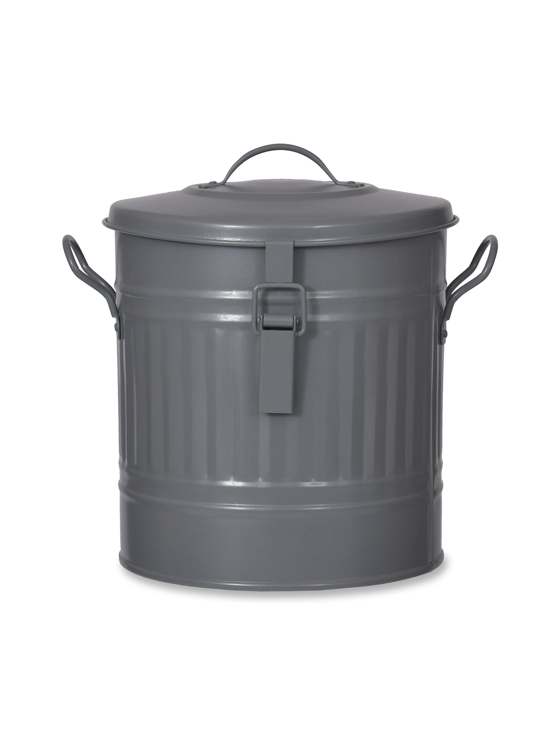 Steel Outdoor Compost Bucket in Grey  | Garden Trading