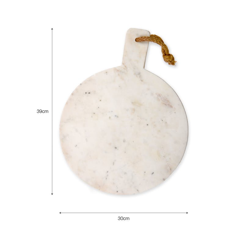 Marble Chopping Board in Round or Rectangular    Garden Trading