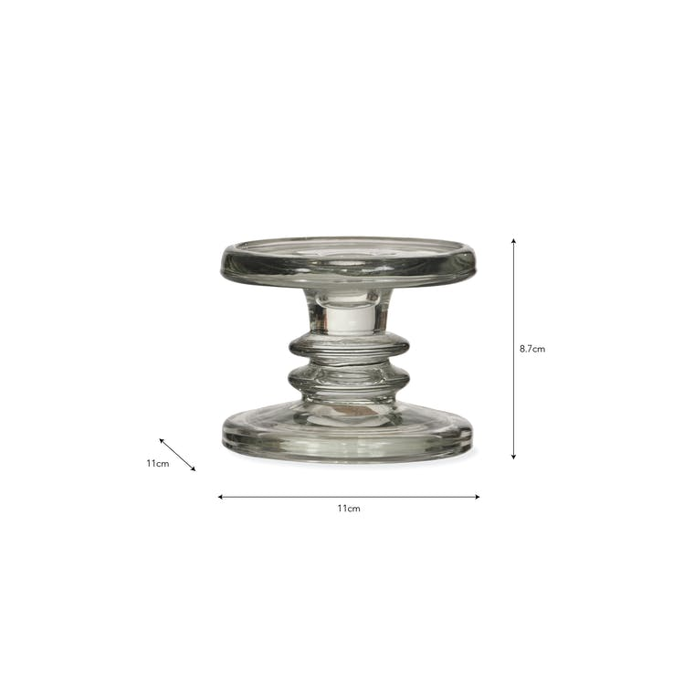 Glass Candlestick Holder in Small, Medium or Large | Garden Trading