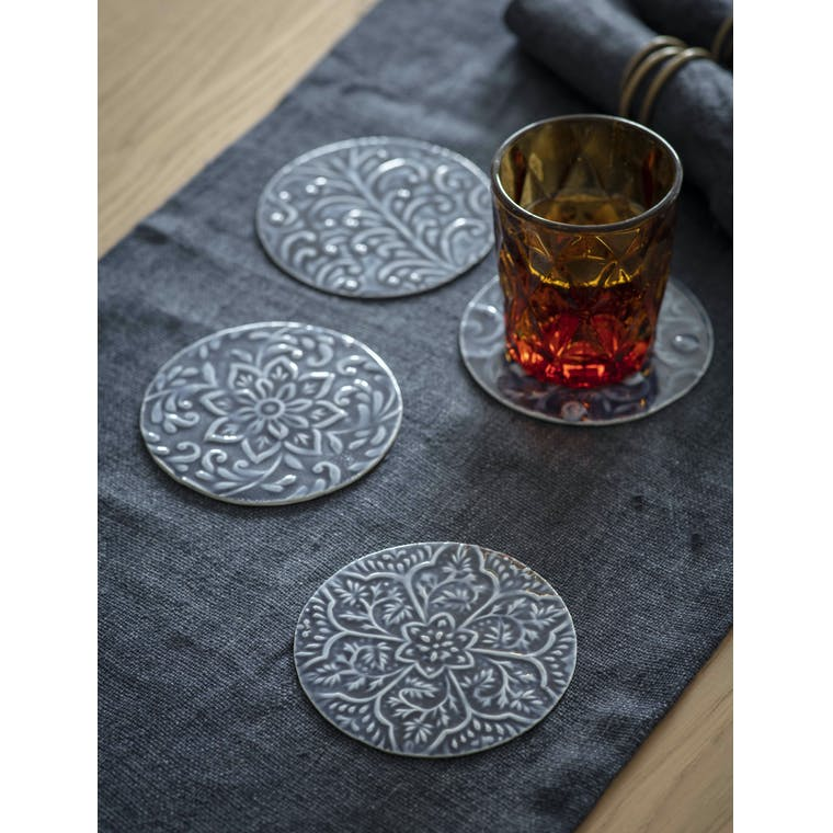 Garden Trading Set of 4 Fiskardo Coasters in Ink
