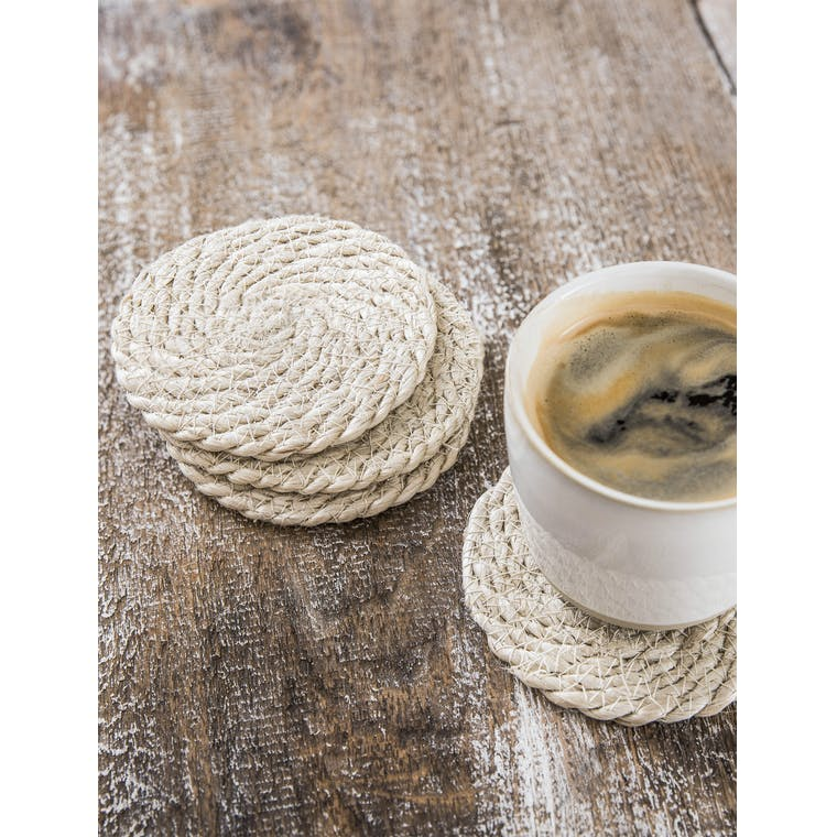 Set of 4 Jute Coasters in Natural | Garden Trading
