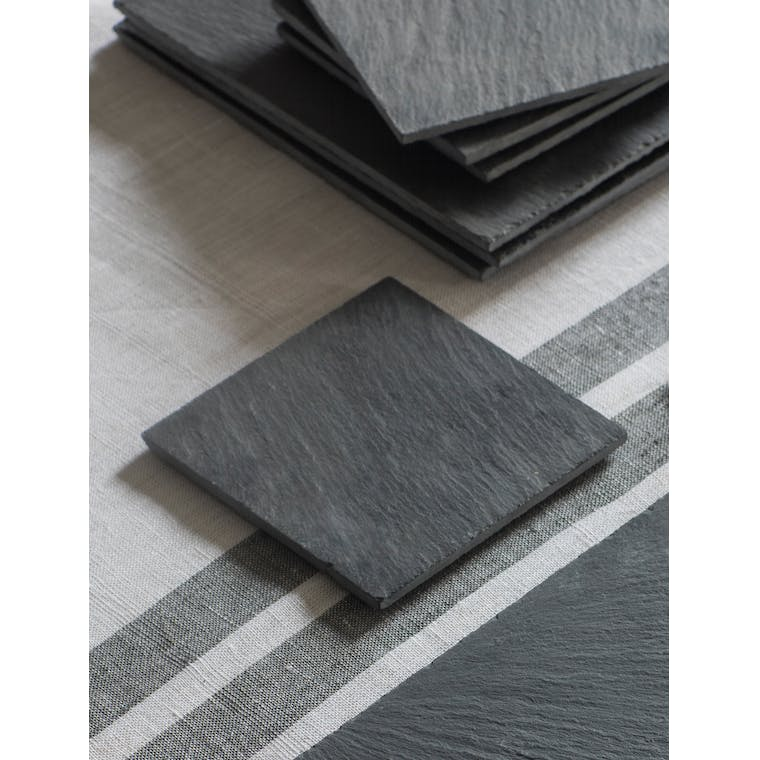Garden Trading Set of 4 Coasters, Slate