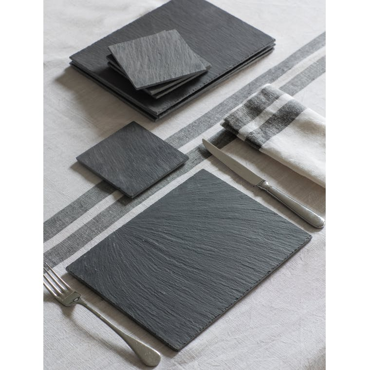 Slate Set of 4 Coasters in Square    Garden Trading