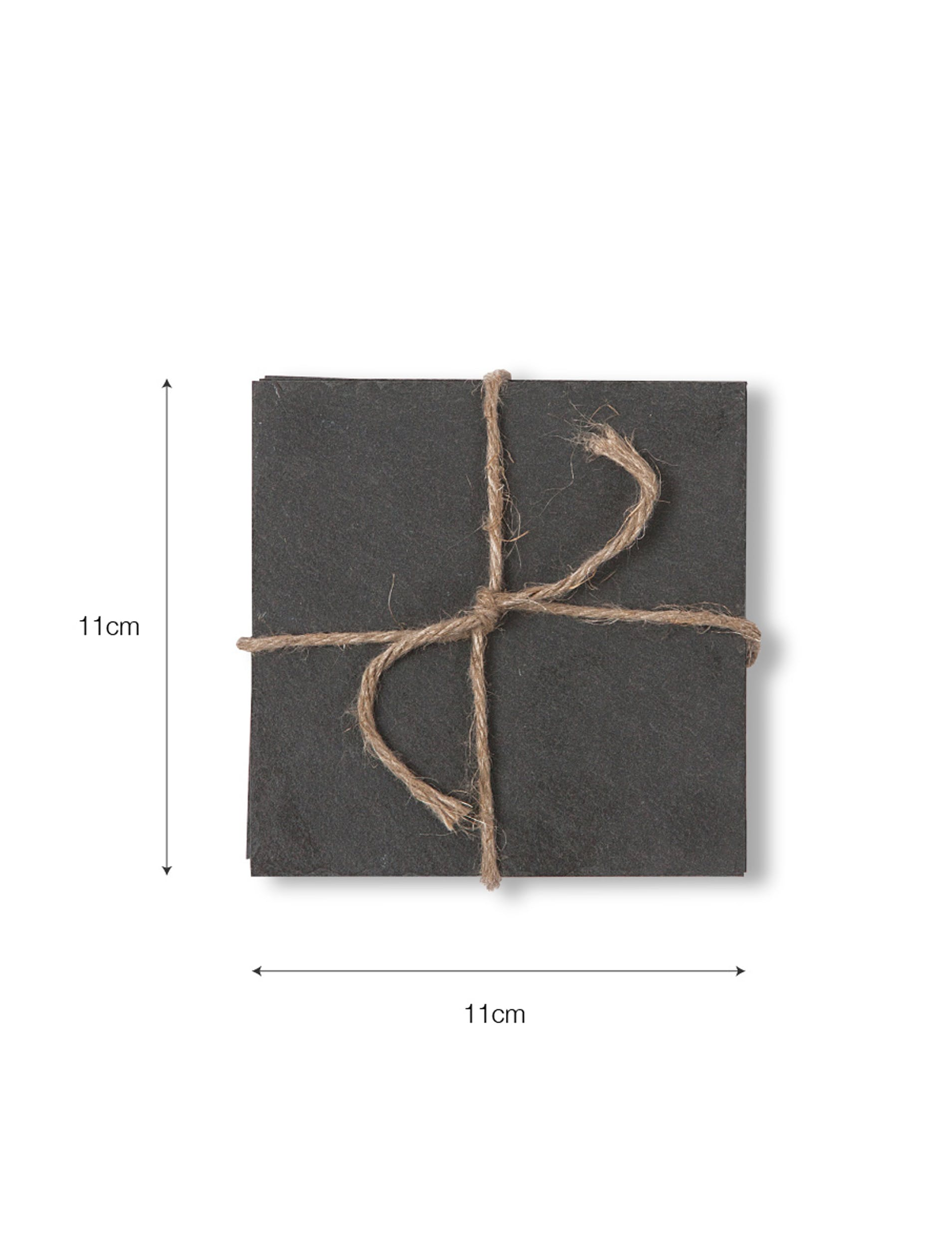 Slate Set of 4 Coasters in Square  | Garden Trading