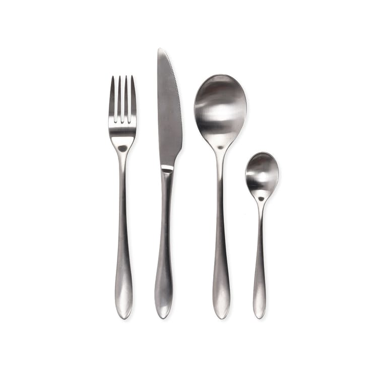 16 Piece Cutlery Set in Silver or Black | Garden Trading
