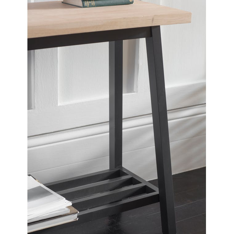 Oak Clockhouse Console Table in Black | Garden Trading