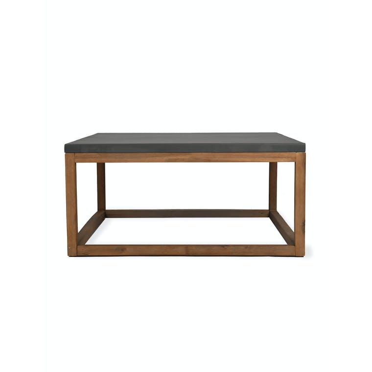 Cement and Acacia Wood Chilson Coffee Table | Garden Trading