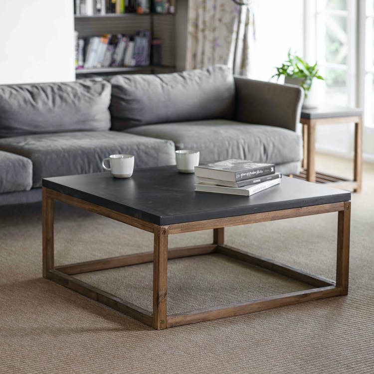 Cement And Acacia Wood Chilson Coffee, Garden Trading Chilson Console Table
