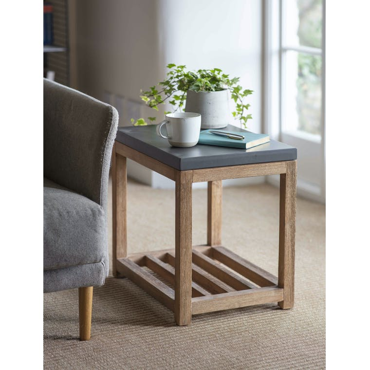 Garden Trading Chilson Side Table with Shelf