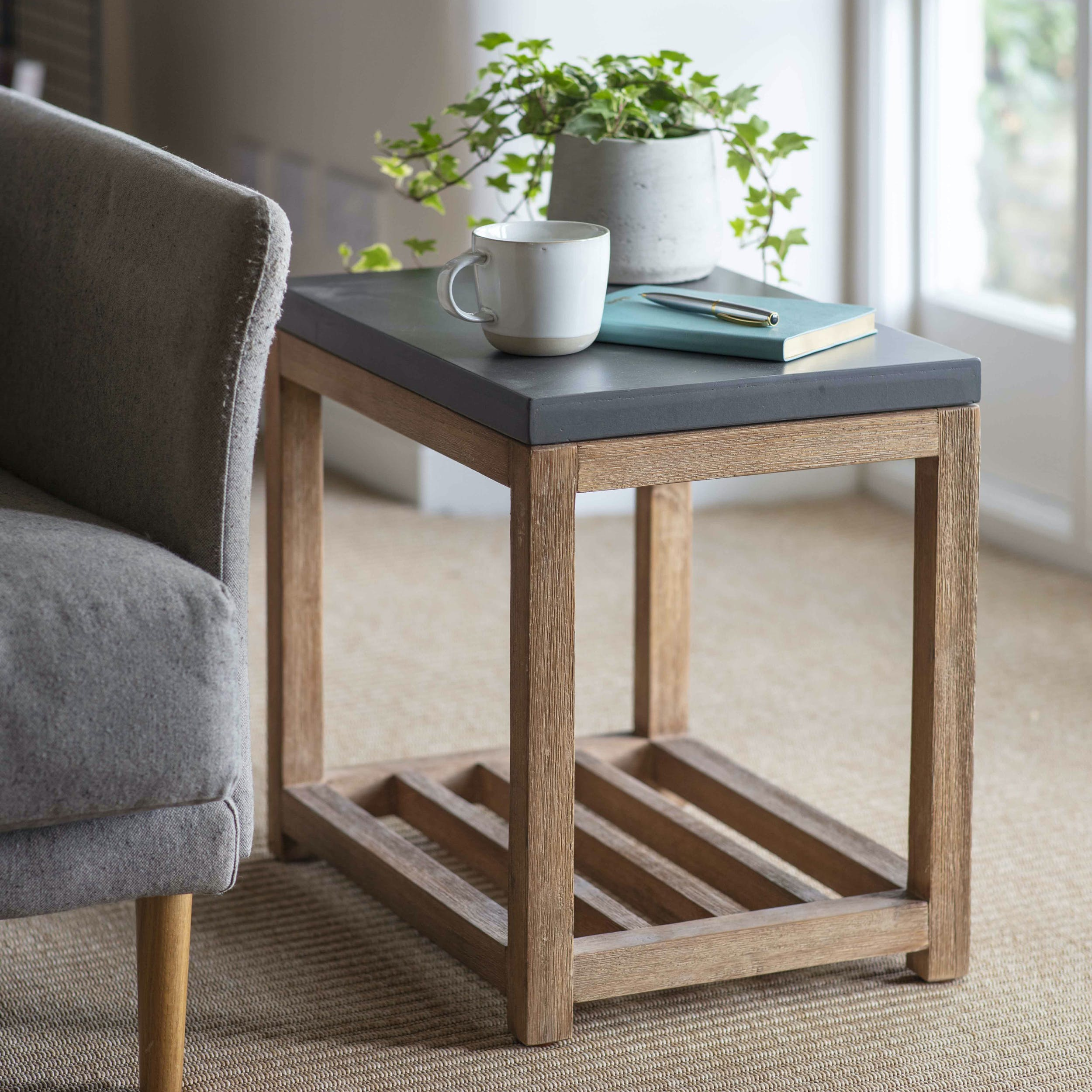 watch 16dc5 ee526 Chilson Side Table with Shelf