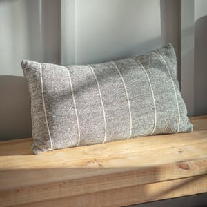 Walberswick Grey Stripe Cushion