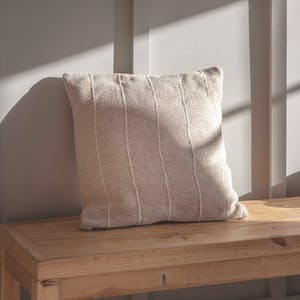 Natural Walberswick Stripe Cushion