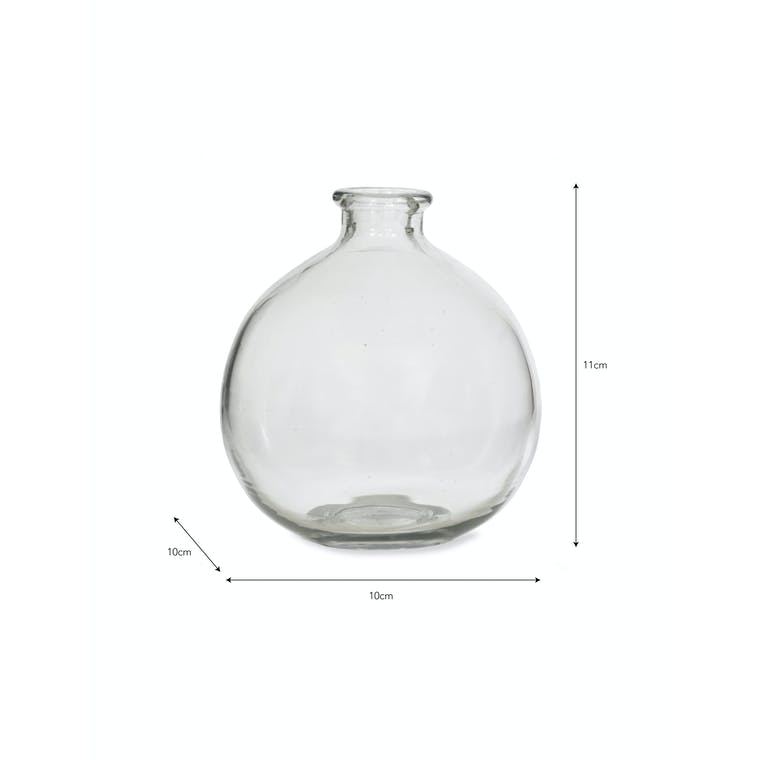 Recycled Glass Clearwell Bud Vase in Clear or Brown | Garden Trading