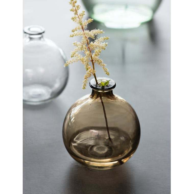 Clearwell Bud Vase in Chestnut by Garden Trading