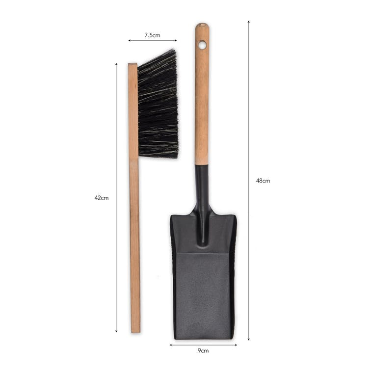Metal Jutland Fireside Dustpan and Brush | Garden Trading