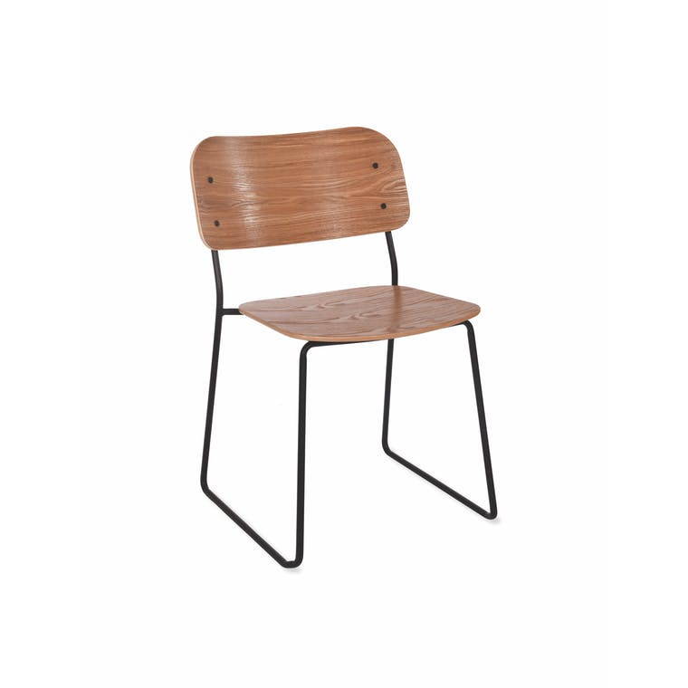 Wooden Clanfield Chair in White or Black | Garden Trading