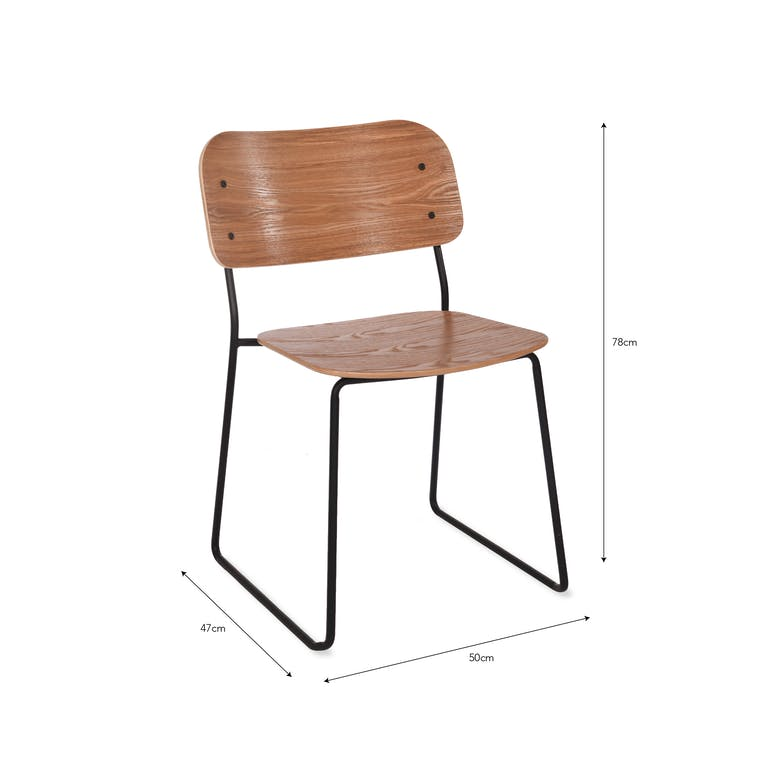 Wooden Clanfield Chair in White or Black   Garden Trading