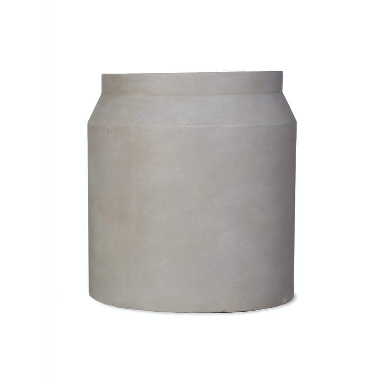 Fibre Clay Draycott Planter, Large in Natural or Grey   Garden Trading